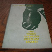 1962 Green Bay Packers Media Guide
