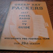 Green Bay Packers 1957 Press Radio And TV Media Guide