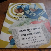 1961 NFL Championship Game Program Green Bay Packers New York Giants
