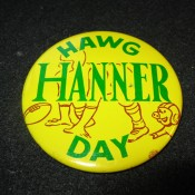 "1962 Green Bay Packers ""Hawg"" Hanner Day Pinback Button"