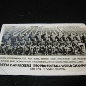 Scarce 1930 Stiller Kodak Photo Green Bay Packers World Champions