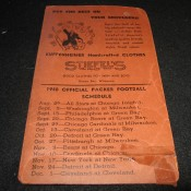 1940 Green Bay Packers Schedule Stiefel's Mens Wear Advertising Promotional Wallet