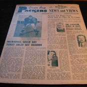 Scarce 1953 Green Bay Packers News & Views Newsletter