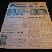 Scarce 1954 Green Bay Packers News And Views Newsletter