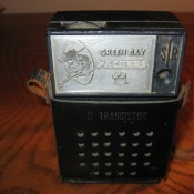 Early 1960s Green Bay Packers Working Transistor Radio