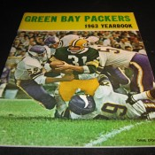 1963 Green Bay Packers Yearbook Excellent Example
