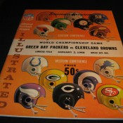 1965 NFL Championship Program Green Bay Packers Cleveland Browns