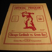 1929 Green Bay Packers Chicago Cardinals Game Program