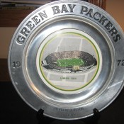 Scarce Green Bay Packers Directors Gift Pewter Plate 1972 H.J. Olson