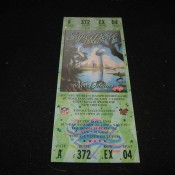 Original Complete Super Bowl 31 Game Ticket Green Background