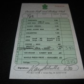 Oneida Golf And Riding Club Lunch Receipt With Ray Nitschke Autograph
