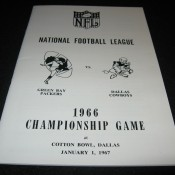 1966 NFL Championship Game Media Guide Packers Cowboys