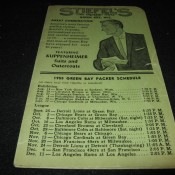1955 Green Bay Packers Pocket Schedule Stieffel's Men's Wear