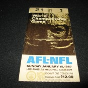 Original Super Bowl 1 Ticket Stub Packers Chiefs