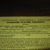 1966 Green Bay Packers Willie Wood Player Contract Original Packers Copy