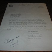 Green Bay Packers Addressed Letter With Vince Lombardi Signed Notation