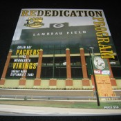2003 Green Bay Packers Re-Dedication Of Lambeau Field Program