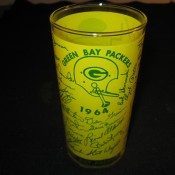 Scarce 1964 Green Bay Packers Team Autographed Drinking Glass