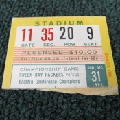 1961 NFL Championship Game Ticket Stub