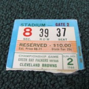 1965 NFL Championship Game Ticket Stub