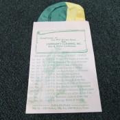 1968 Lindeman's Cleaning Green Bay Packers Pocket Handkerchief Schedule