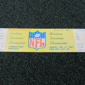 "1967 NFL Championship ""Ice Bowl"" Full Game Ticket"