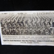 Original 1930 Green Bay Packers World Champions Stiller Photo