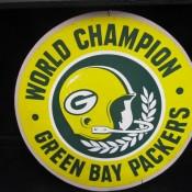 Scarce Large 8″ World Champion Green Bay Packers Unused Sticker