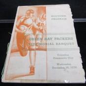1936 Green Bay Packers World Champs Banquet Program 12 Autos Including Lambeau
