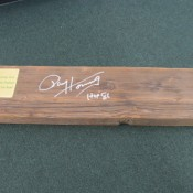 Original Wood Seat Plank Green Bay New City Stadium Seat 5 Paul Hornung Autograph