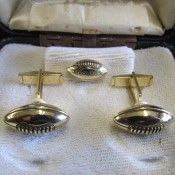 1960s Green Bay Packers Tie Tac & Cuff Links Original Set In Box