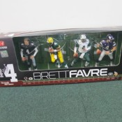 2010 Brett Favre 4 of 4 Through the Years 4 Piece McFarlane Set