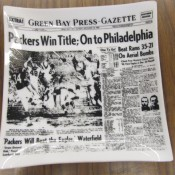December 18, 1960 Green Bay Press-Gazette Headline On Glass Dish