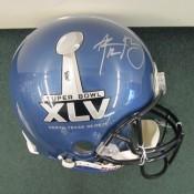 Aaron Rodgers Autographed Super Bowl XLV(45) Navy Blue Full Size Helmet