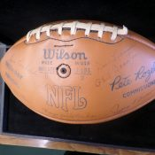 1960s Stamped Autograph Football