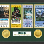 Green Bay Packers SB Championship Ticket Collection