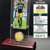 Jordy Nelson Ticket & Bronze Coin Acrylic Desk Top
