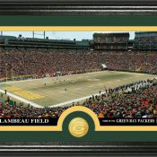 "reen Bay Packers ""Stadium"" Bronze Coin Panoramic Photo Mint"