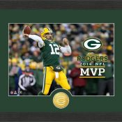 Aaron Rodgers 2014 NFL MVP Bronze Coin Photo Mint