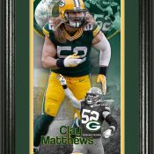 "Clay Matthews ""Supreme"" Bronze Coin Panoramic Photo Mint"