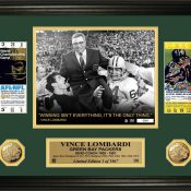 Vince Lombardi Super Bowl Ticket Gold Coin Photo Mint