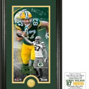 "Jordy Nelson ""Supreme"" Bronze Coin Panoramic Photo Mint"