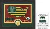 "Green Bay Packers ""Country"" Bronze Coin Photo Mint"