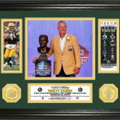 "Brett Favre Hall of Fame Induction ""Bronze Bust"" Photo Mint"