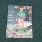1957 Green Bay Packer vs Chicago Bears Dedication Program September 29