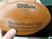 1967 Green Bay Packers Stamped Autographed Wilson Football