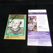 Green Bay Packers Ray Nitschke Autographed Football Card JSA