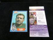 Green Bay Packers Jim Ringo Autographed Football Card JSA