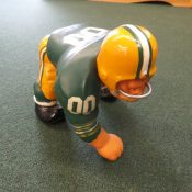 "Very Scarce Fred Kail Green Bay Packers ""Bruiser"" Figurine Large Size"