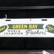 1967 Green Bay World Champion Packers Auto License Plate Topper